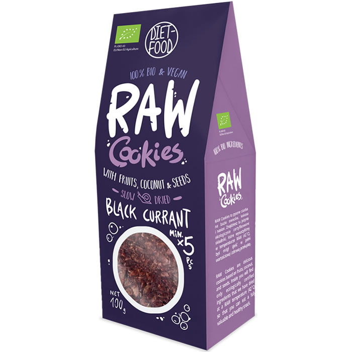 Diet Food Raw Cookies toorküpsised, Mustasõstra (100 g)