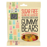 Free From Fellows suhkru-ja želatiinivabad kommid, Gummy Bears (100 g)
