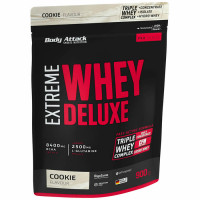Body Attack Extreme Whey Deluxe valgupulber, Kreemiküpsise (900 g)