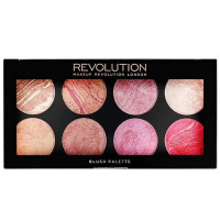 Makeup Revolution London põsepuna- ja särapuudri palett, Queen Blush (13 g)