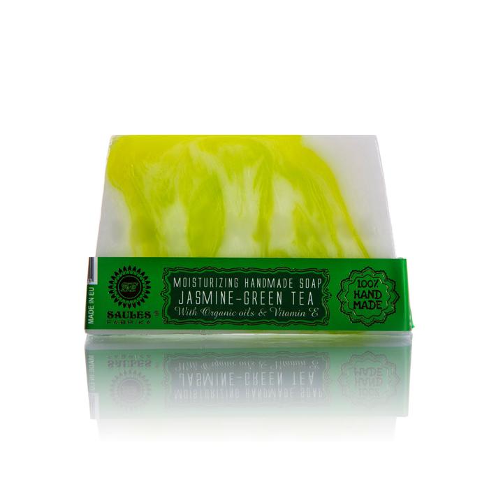 Saules Fabrika käsitööseep, Jasmine-Green Tea (80 g)