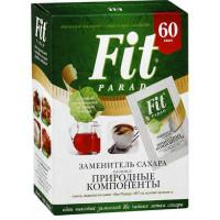 FitParad looduslike komponentidega suhkruasendaja portsjonpakkides 60 tk (60 g)