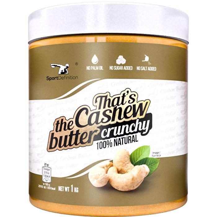 Sport Definition That's the Cashew Butter india pähklivõi, Crunchy (1 kg)