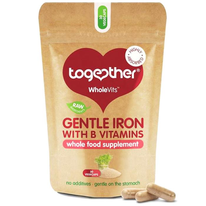 Together Health WholeVits™ Gentle Iron raua kompleks kapslid (30 tk)