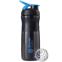 BlenderBottle Sportmixer Grip šeiker-joogipudel, Black-Cyan (820 ml)