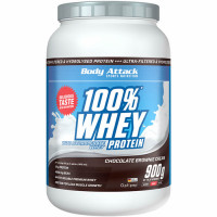 Body Attack 100% Whey Protein, Šokolaadi brownie (900 g)