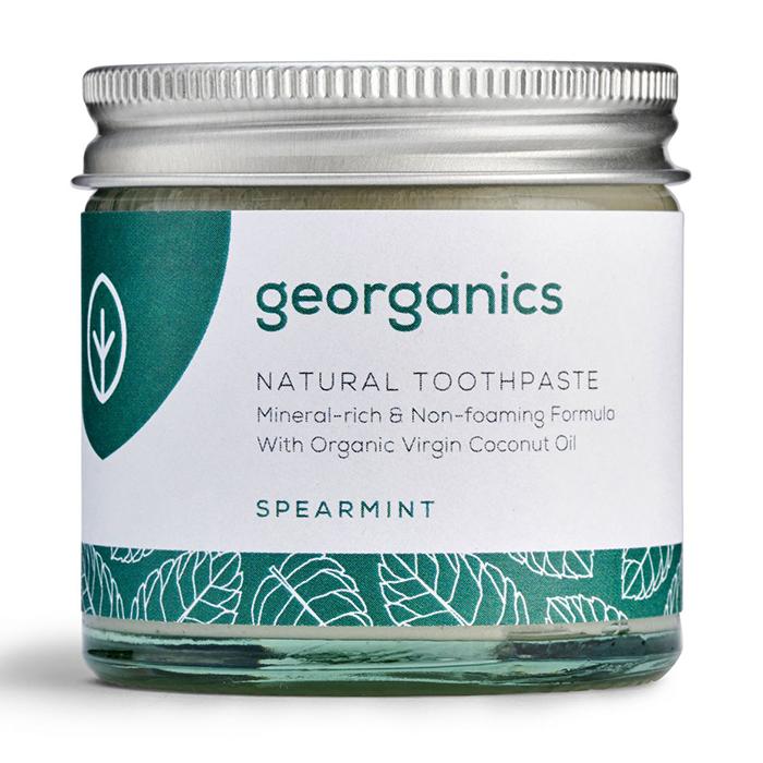 Georganics looduslik remineraliseeriv hambapasta kookosõli baasil, Rohemünt (120 ml)