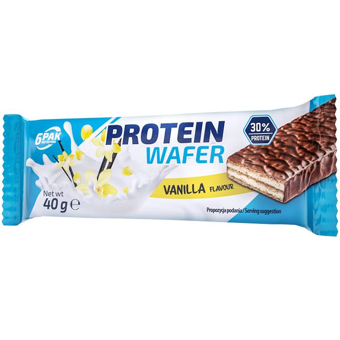 6PAK Protein Wafer, Vanilje (40 g)