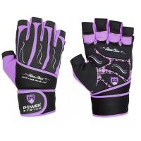 Power System Gloves Fitness Chica treeningkindad, Lilla (S)