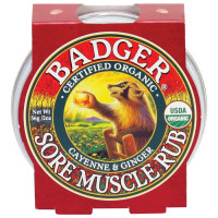 Badger Balm Sore Muscle Rub spordipalsam valulikele lihastele (21 g)