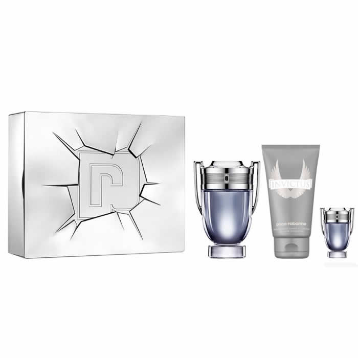 Paco Rabanne Invictus Set EDT (100 ml) + SGE (100 ml) + EDT (5 ml)