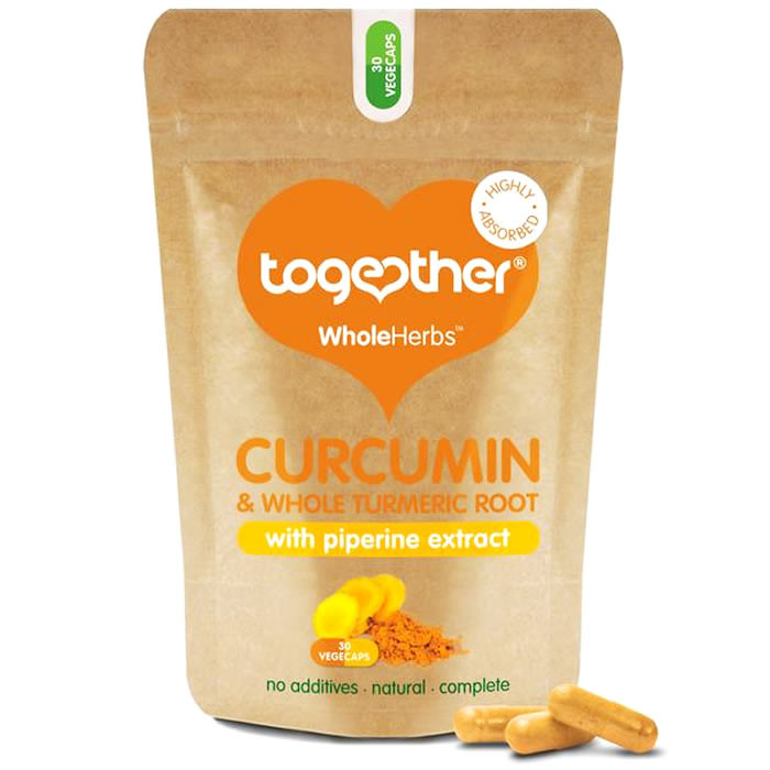 Together Health WholeHerbs™ orgaaniline kurkumi, kurkumi ekstrakti ja piperiini kompleks kapslid (30 tk)
