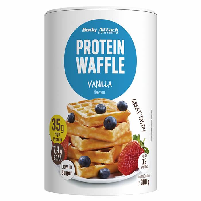 Body Attack Protein Waffle vahvlipulber, Vanilla (300 g)