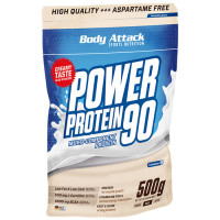 Body Attack Power Protein 90 valgupulber, Kookosekreemi (500 g)