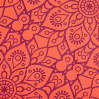 Spokey Mandala võimlemismatt, Oranž (4 mm)