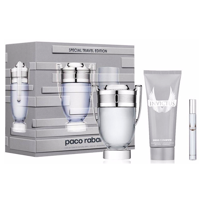 Paco Rabanne Invictus Set EDT (100 ml) + EDT (10 ml) + SGE (100 ml)