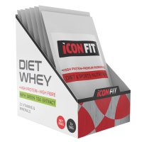 ICONFIT Diet WHEY Protein karp, Šokolaadi (7 x 50 g)