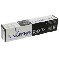 Kingfisher looduslik fluoriidivaba hambapasta, Valgendava söega (100 ml)