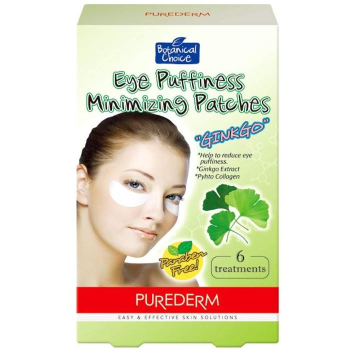 Purederm Eye Puffiness Minimizing Patches geelplaastrid Ginko ekstraktiga (6 x 2 tk)