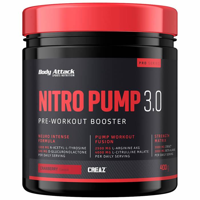 Body Attack Nitro Pump 3.0, Jõhvika (400 g)