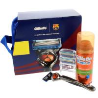 Gillette Fusion Proglide FC Barcelona Premium Partner komplekt (Raseerija + 2 tera + geel 75 ml)