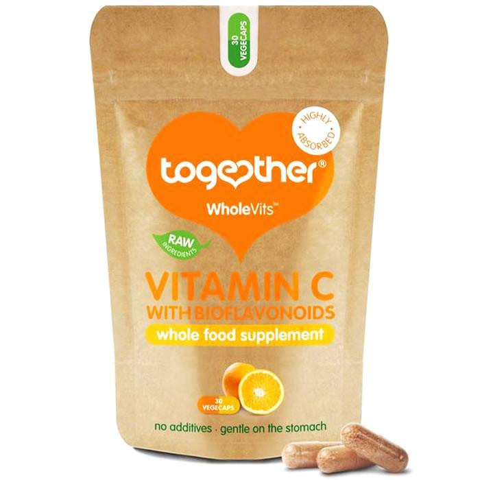 Together Health WholeVits™ orgaanilise C vitamiini kapslid bioflavonoididega (30 tk)