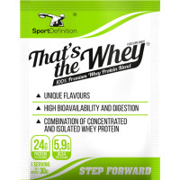 Sport Definition That's the Whey valgupulber, Vanilje-iirise (30 g)