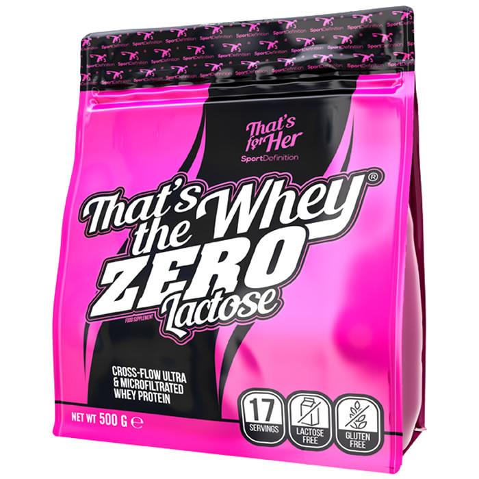 Sport Definition That's The Whey ZERO [THAT'S FOR HER] aminohapetega valgupulber, Maasika juustukoogi (500 g)