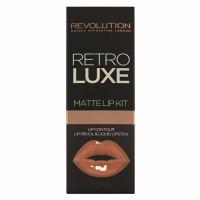 Makeup Revolution Retro Luxe Matte huulepulga ja pliiatsi komplekt, Noble (5.5 ml + 1 g)