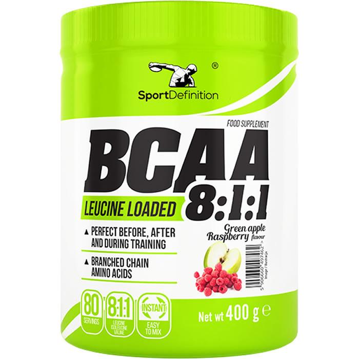 Sport Definition BCAA 8:1:1, Õuna-vaarika (400 g). Parim enne 30.10.2019