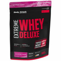 Body Attack Extreme Whey Deluxe valgupulber, Amarena-kirsi (900 g)