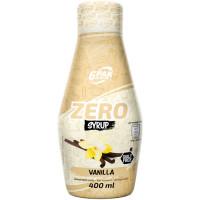 6PAK Syrup Zero, Vanilje (400 ml)