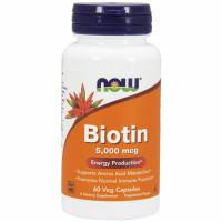 NOW Biotin 5000mcg kapslid (60 tk)
