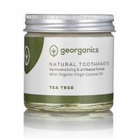 Georganics looduslik remineraliseeriv hambapasta kookosõli baasil, Teepuuõliga (120 ml)