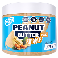 6PAK Peanut Butter PAK maapähklivõi, Smooth (275 g)
